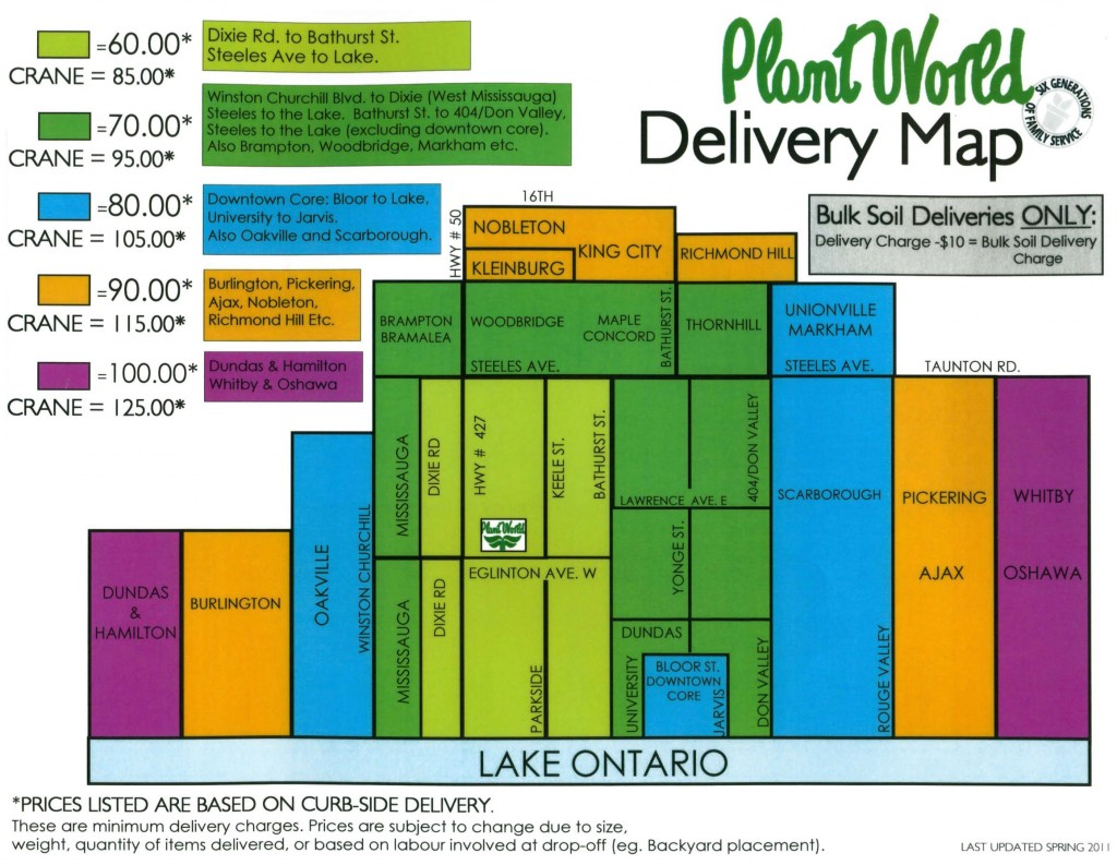 Plant World Delivery Map